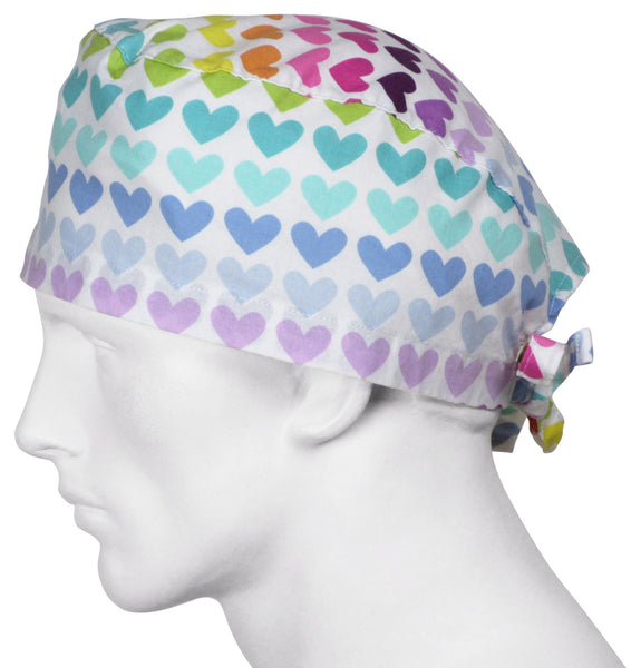 Surgical Scrub Hats Showtime Hearts