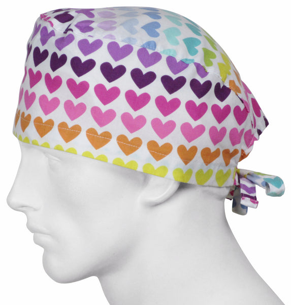 Scrub Surgical Hats Showtime Hearts