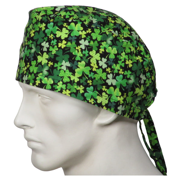 Surgical Caps Shamrock Clovers