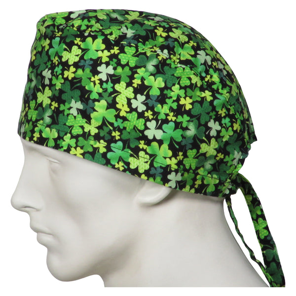 Surgical Hats Shamrock Clovers