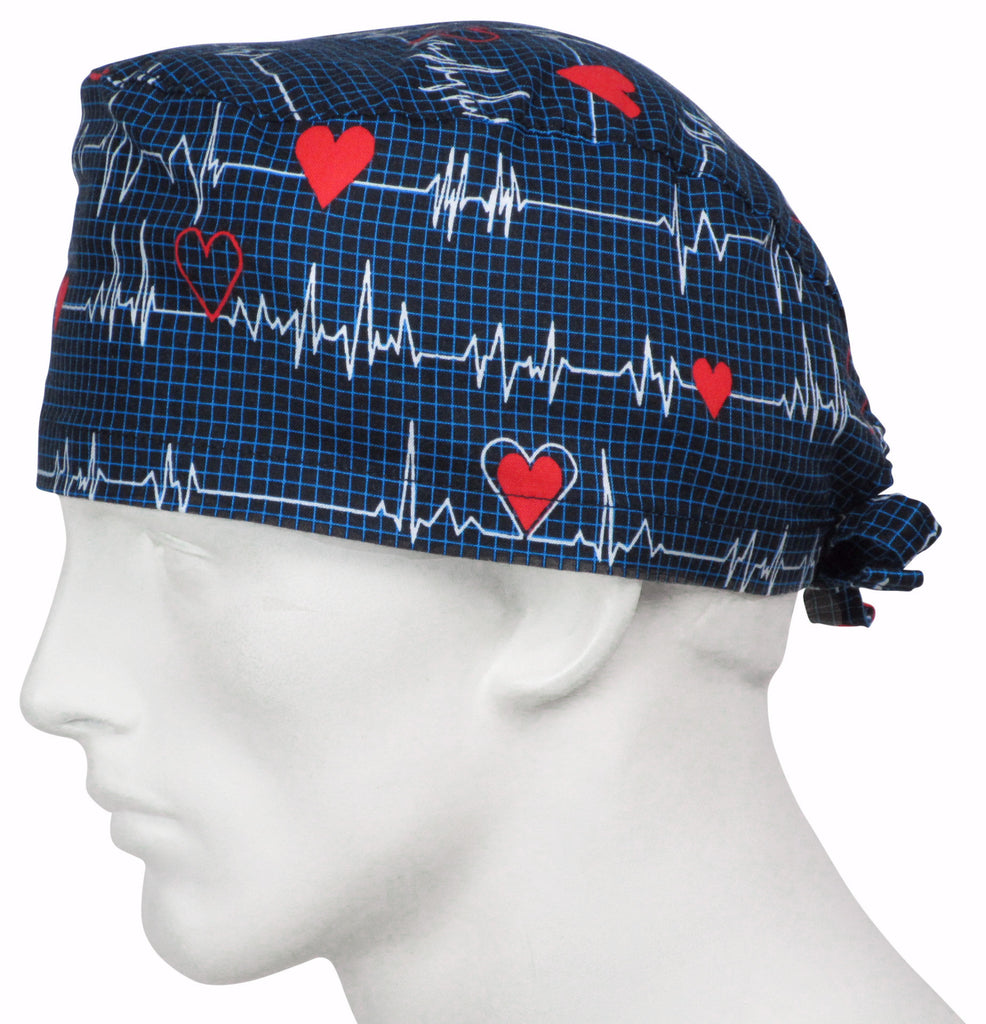 Surgical Caps EKG black