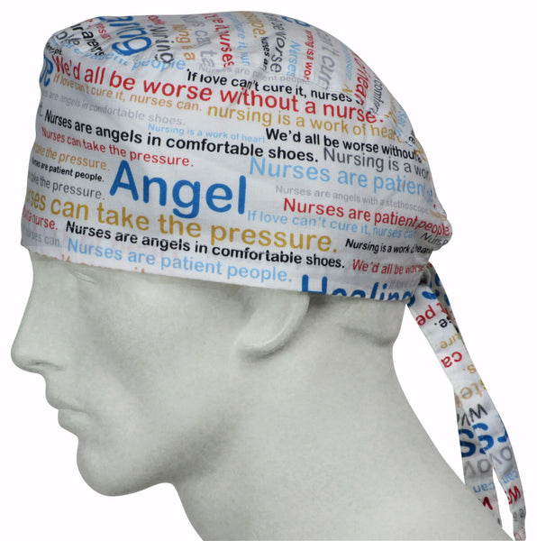 Scrub Caps Nurse Words