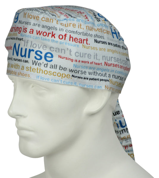 Surgical Caps Nurse Words