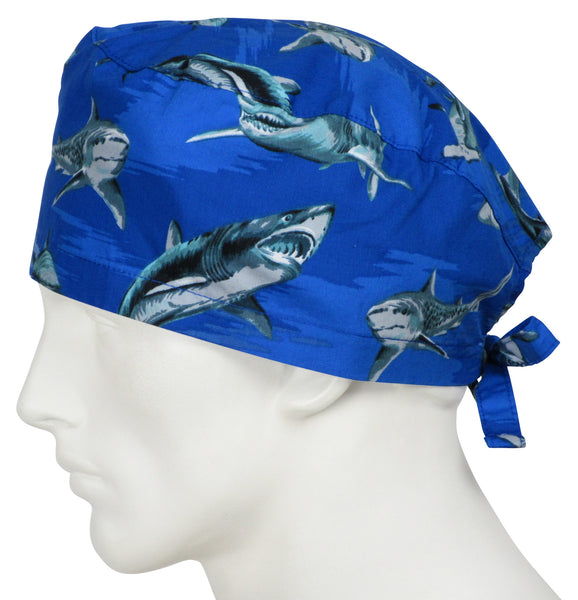 Scrub Caps Shark World