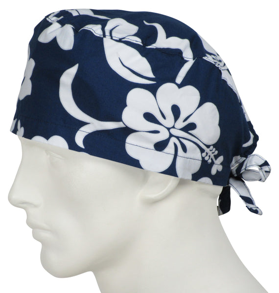Scrub Caps Lava Flower Navy