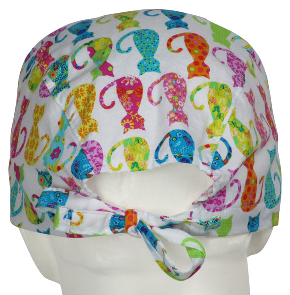 Surgical Hats Calico Cats