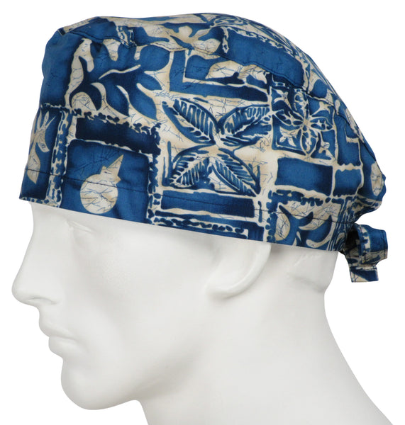 Scrub Caps Tropical Indigo