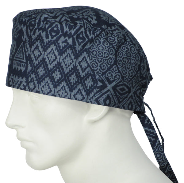 Surgical Caps Tribal Indigo