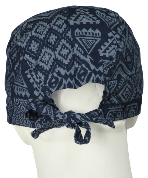 Scrub Hats Tribal Indigo