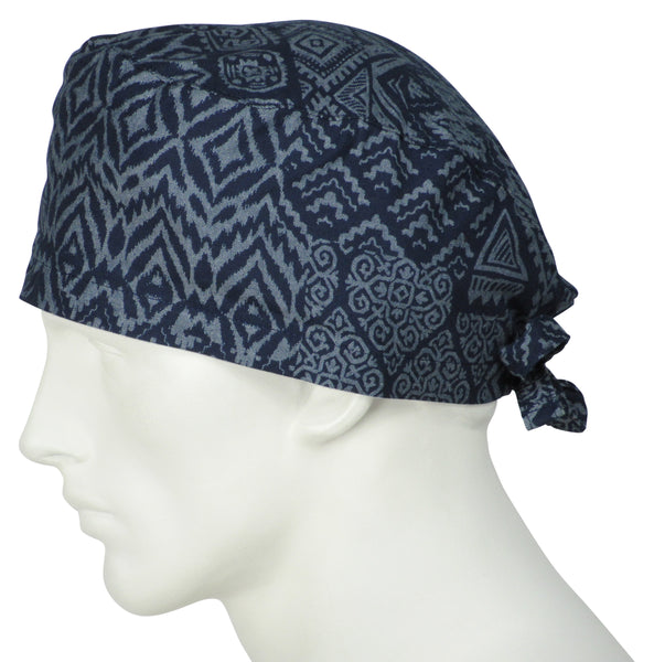 Scrub Caps Tribal Indigo
