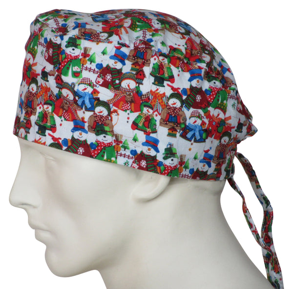 Surgical Cap White Christmas