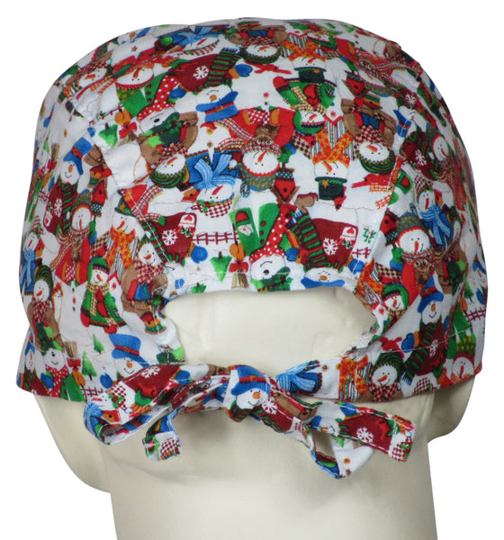 Scrub Cap White Christmas