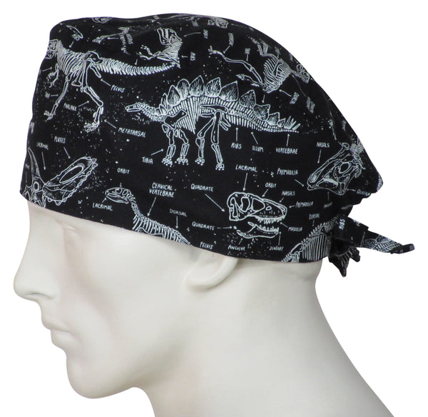 Theatre Scrub Caps Prehistoric Animals