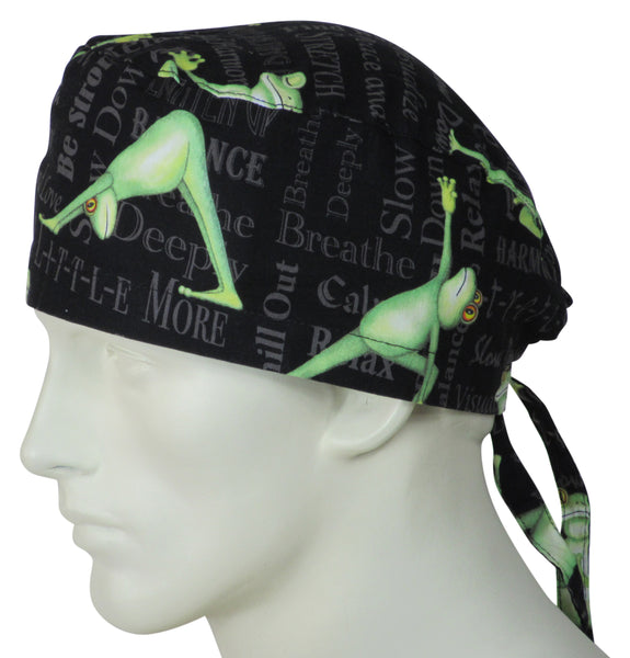 Surgical Cap Yoga Frogs