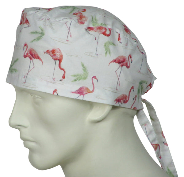 Surgical Cap Flamingos