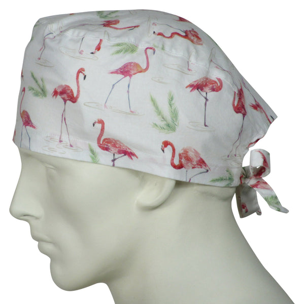 Scrub Caps Flamingos