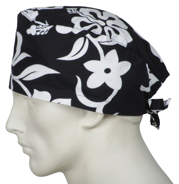 Theatre Caps Black Flowers