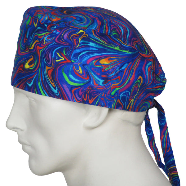 Surgical Cap Crazy Swirls
