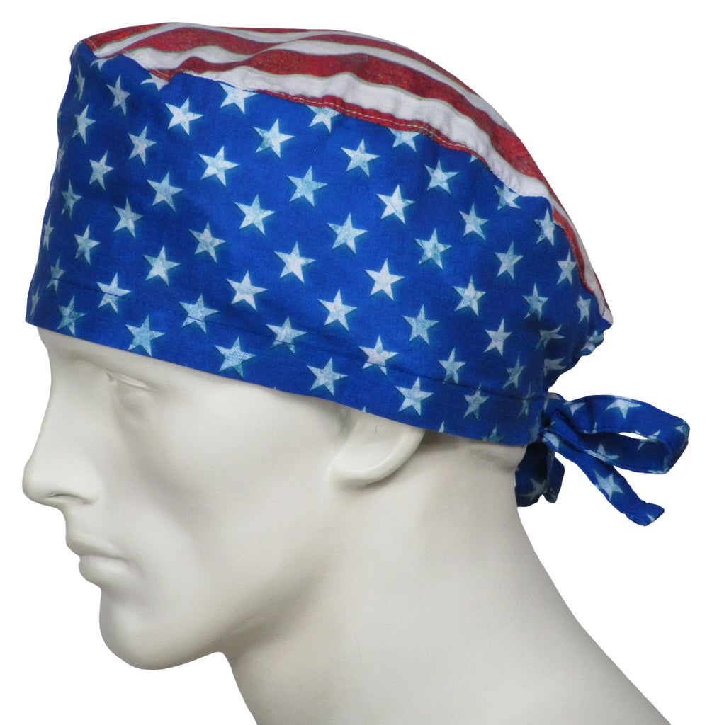 Surgical Caps Stars and Stripes