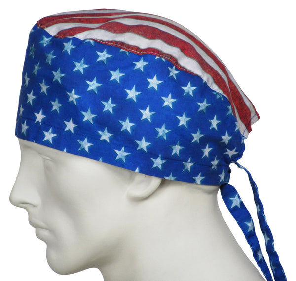 Scrub Caps Stars and Stripes