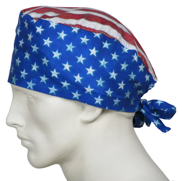Surgical Cap Stars and Stripes