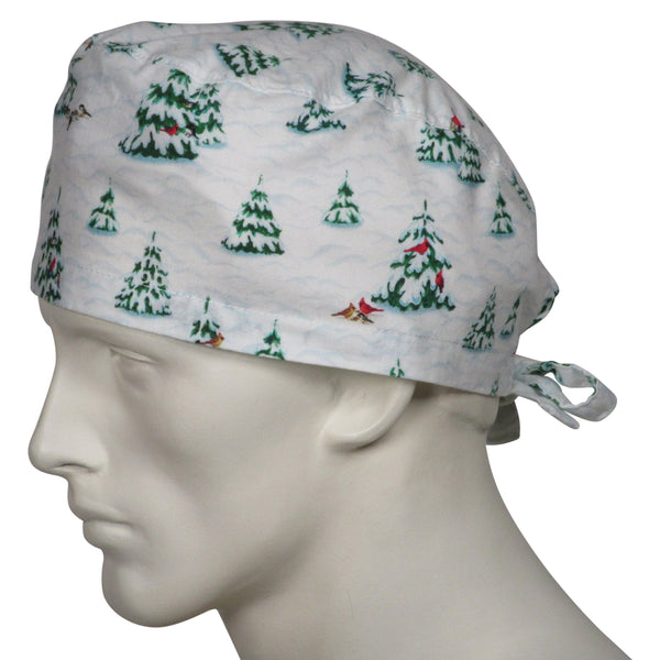 Surgical Hats Snow Trees