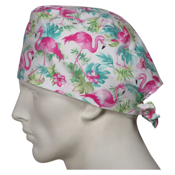 Scrub Hats Pink Flamingos