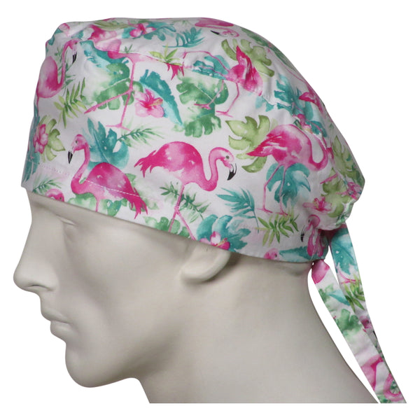 Surgical Caps Pink Flamingos