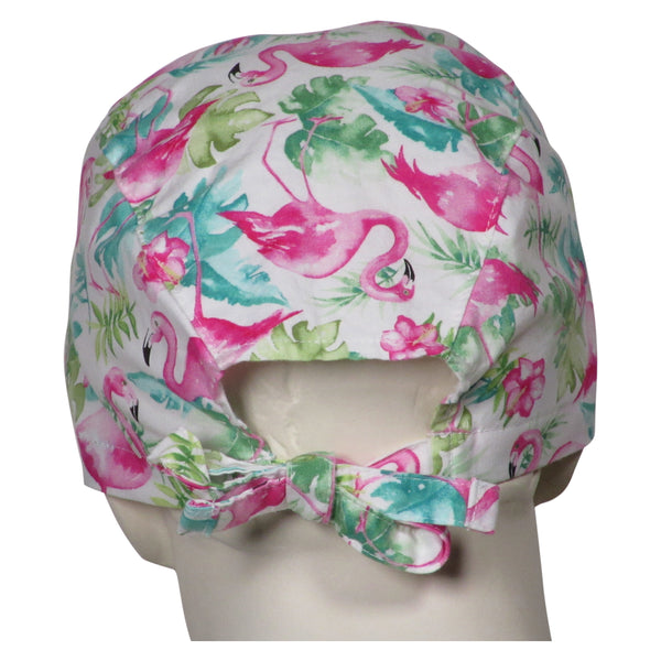 Surgical Cap Pink Flamingos