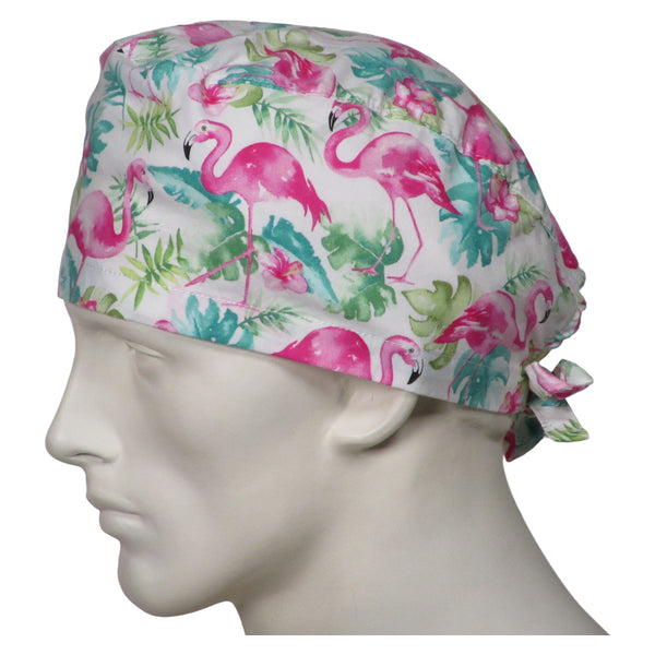 Scrub Caps Pink Flamingos