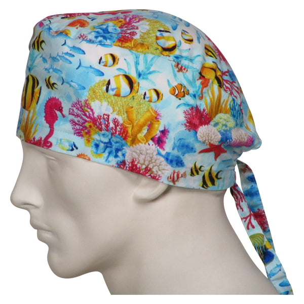Theatre Scrub Hats Caps Ocean Seas