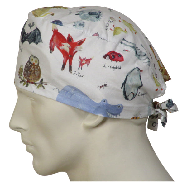 Surgical Cap Animal World