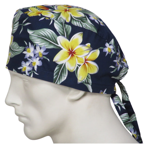 Scrub Hats Island Flowers