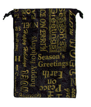 Holiday Words Scrub Surgical Sacks