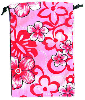 Pink Flowers Scrub Sacks