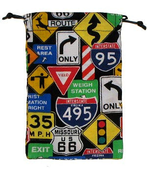 Traffic Signs Scrub Sacks
