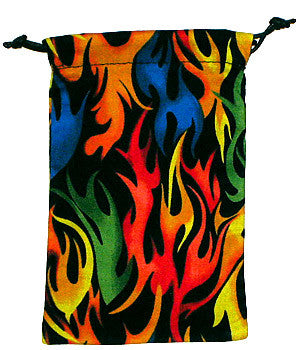 Colorful Flames Scrub Sacks