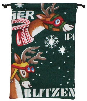 Reindeer Runs Surgical Scrub Sacks