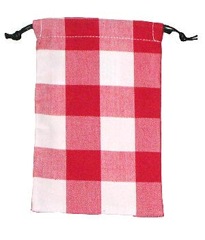 Gingham Red Scrub Sacks