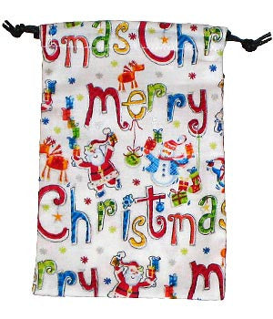 Merry Christmas Surgical Scrub Sacks