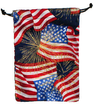 4th of July Blue Scrub Sacks