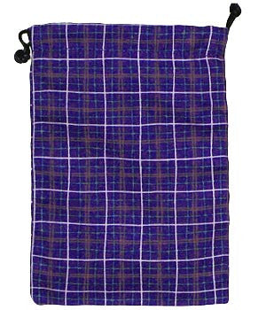 Purple Plaid Surgical Sacks