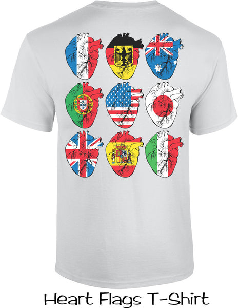 Heart Flags T Shirts
