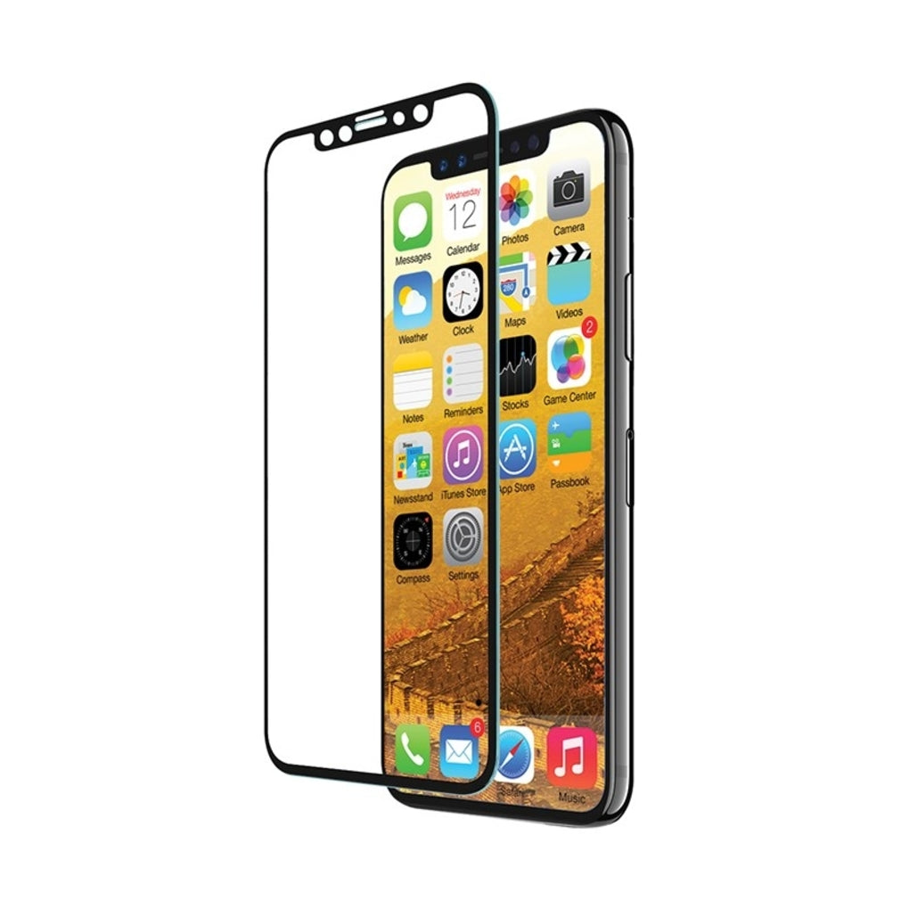 EFM Curved Sapphire Glass Screen Armour For iPhone X - Clear/Black