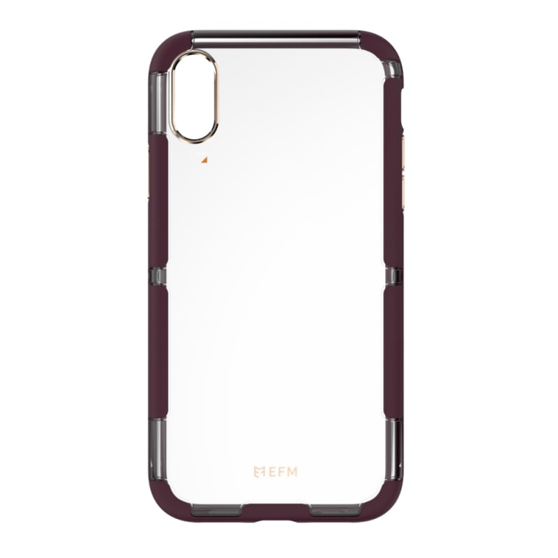 EFM Cayman D3O Case Armour For iPhone Xs Max - Mulberry/Gold