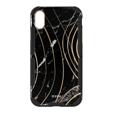 EFM Cayman InStyle D3O Case Armour For iPhone Xs Max - Black Marble