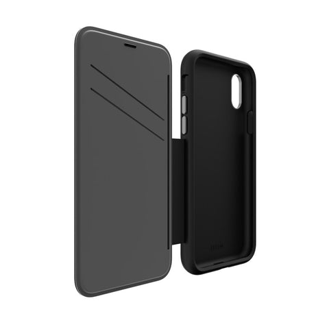 EFM Monaco D3O Leather Wallet Case - iPhone X - Black