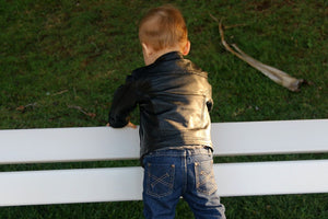 'Deadly' Kids Leather Jacket
