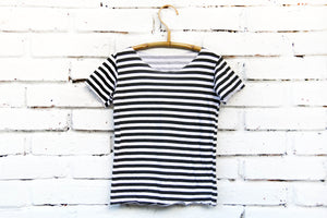 Oversized Brave & Fearless Stripe Basic Tee Kids Toddler T-shirt