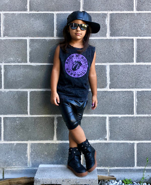 Rock N Roll Baby Doll Distressed Child &  Adult Muscle Tee